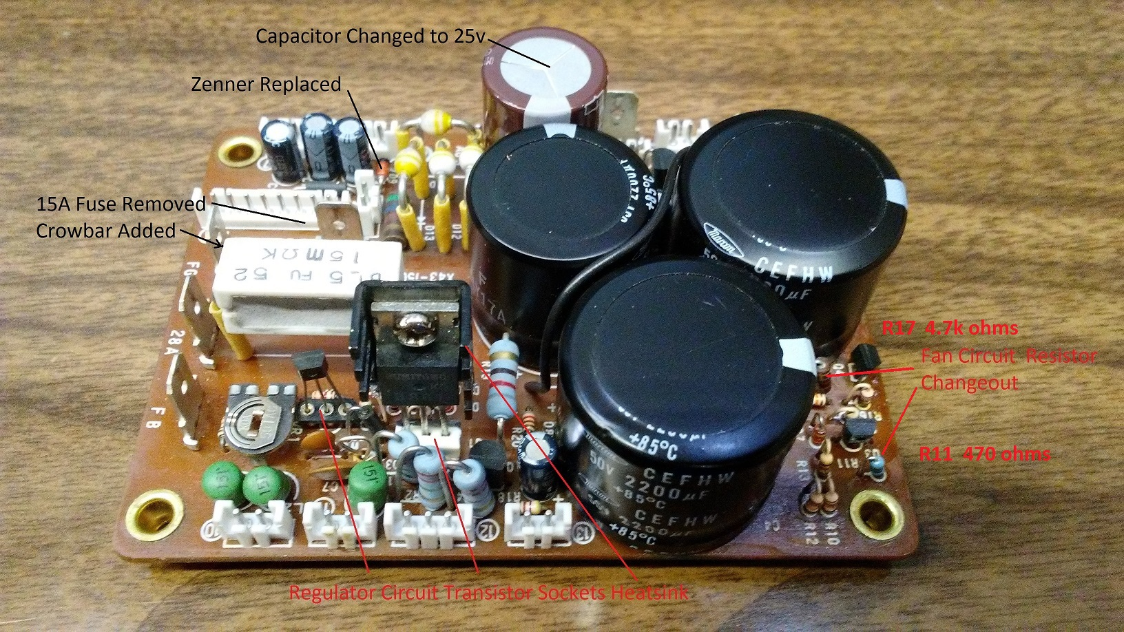 Kenwood TS-940S Power Supply Capacitor Replacement Kit